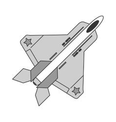 combat aircraft icon vector image