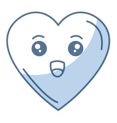 Heart comic character icon vector