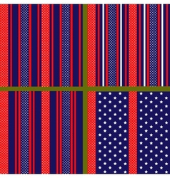 usa flag stylized pattern vector image vector image