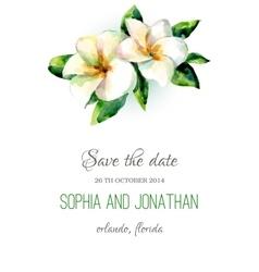 Wedding invitation watercolor vector