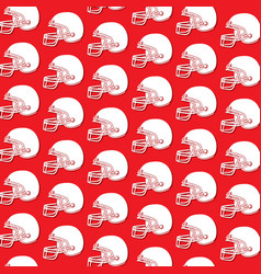 background pattern with american football helmet vector image vector image