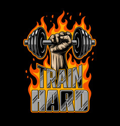 bodybuilding motivation poster vector image