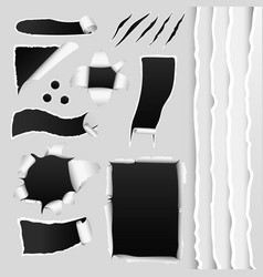 collection of gray paper vector image