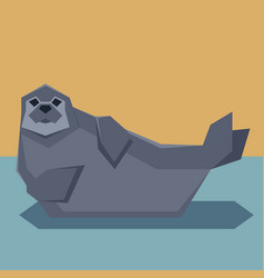 flat design seal vector image vector image