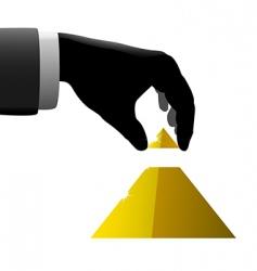 hand pyramid vector image