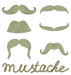 Mustache set vector image vector image