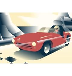 Red sport car vector