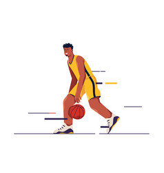 a basketball player in vector image