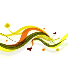 Abstract background spring wave vector