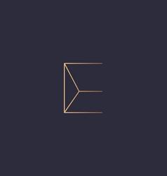 Abstract gradient linear monogram letter e logo vector