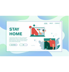 banner stay home concept quarantine vector image