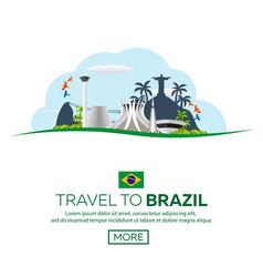 Banner travel to brazil rio de janeiro poster vector