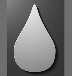 Black drop icons set on white background vector