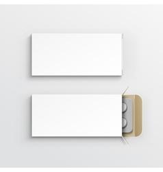 Blank Package Box for Blister of Pills vector
