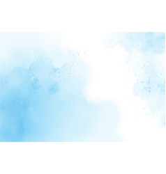 Blue watercolor abstract cloudy blue sky vector