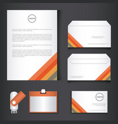 branding identity corporate company design vector image
