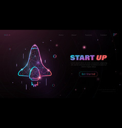 business start up concept for banner web page vector image
