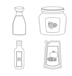 can and food logo set of vector image