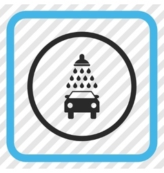 Car Shower Icon In a Frame vector
