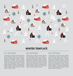 christmas winter infographics template snowy vector image