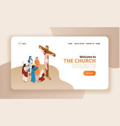 church landing page design vector image