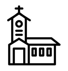 church line icon religious vector image