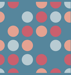 circles seamless pattern dots blue coral vector image