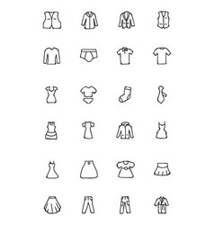 Clothes Hand Drawn Doodle Icons 2 vector image