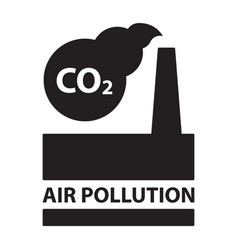 co2 air pollution plant ecology concept isolated vector image