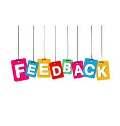 Colorful hanging cardboard Tags - feedback vector