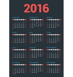 Design Print Template Poster Calendar for 2016 vector