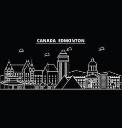 edmonton silhouette skyline canada - edmonton vector image