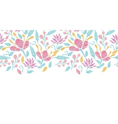 Emboridered garden horizontal seamless pattern vector image