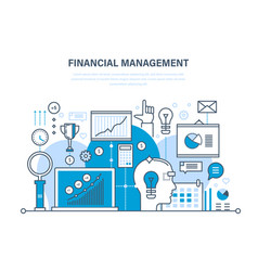 Financial management analysis market research vector