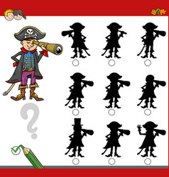finding shadow game with pirate vector image