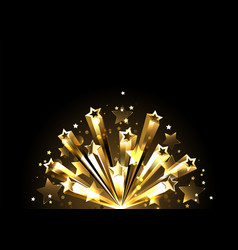 flash golden stars vector image