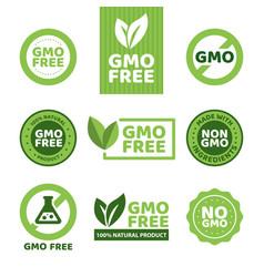 Gmo free emblems vector