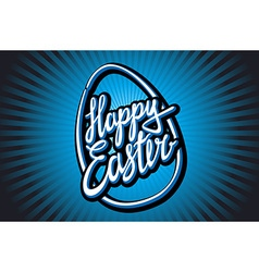 Hand lettering Happy Easter in vintage style vector image
