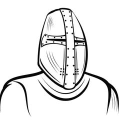Helmet medieval knight vector