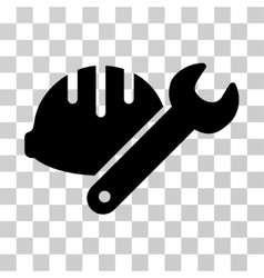 Helmet With Wrench Icon vector