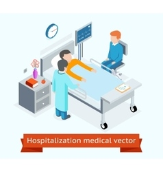 Hospitalization medical 3D isometric vector image