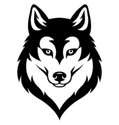 Husky dog head vector
