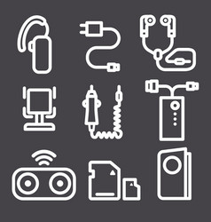 Icons for mobile phone devices vector