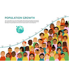 international human faces infographics vector image