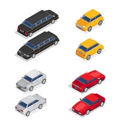 Isometric Transportation Limousine Car Sport Car vector