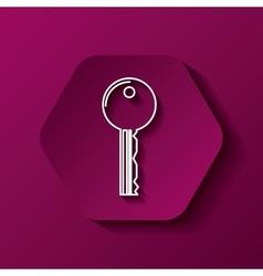 Key icon image vector