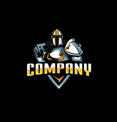 knight paladin emblem vector image