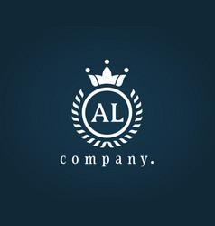 Letter al la luxury royal monogram logo design vector