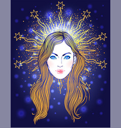 Madonna lady sorrow devotion vector