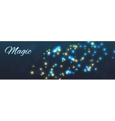 Magic background shining stars vector